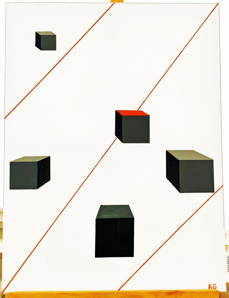 Zeitgenössische Kunst Stuttgart Karlo Grados único entre únicos Ölmalerei moderne Kunst