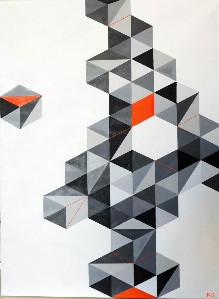 Ölmalerei Karlo Grados Konstruktivismus Stuttgart Zeitgenössische Kunst