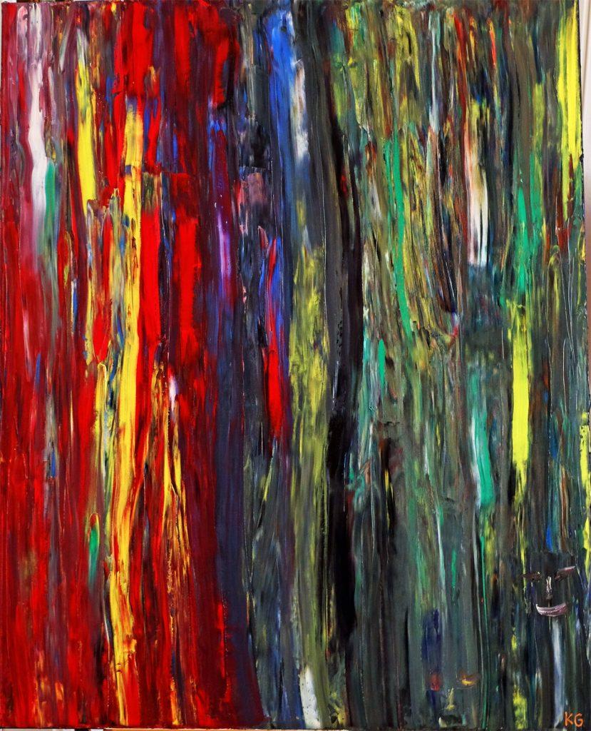 Fuego en Amazonas Zeitgenössische Kunst Stuttgart Karlo Grados Waldschutz Ölmalerei Peru Urwald brennt