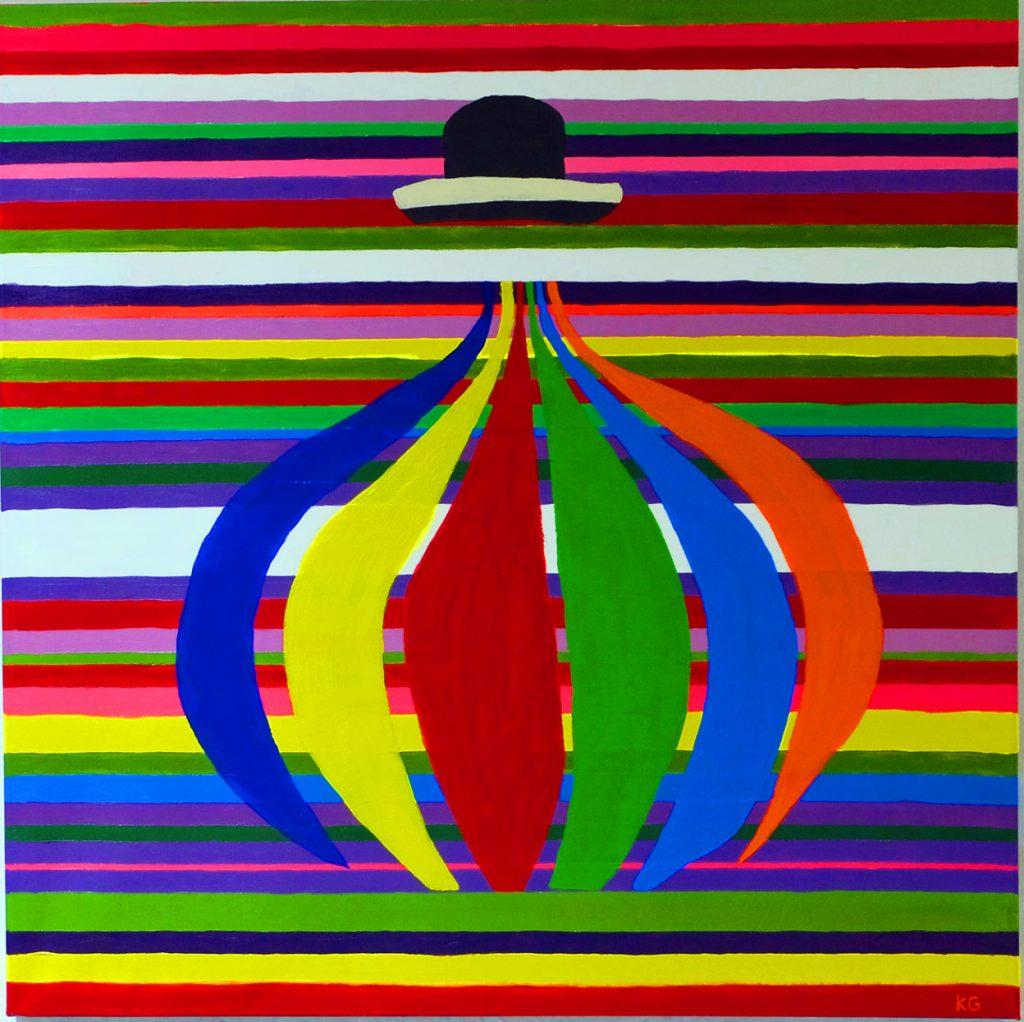 Zeitgenössische Kunst Stuttgart Karlo Grados La Pacha Mama Ölmalerei