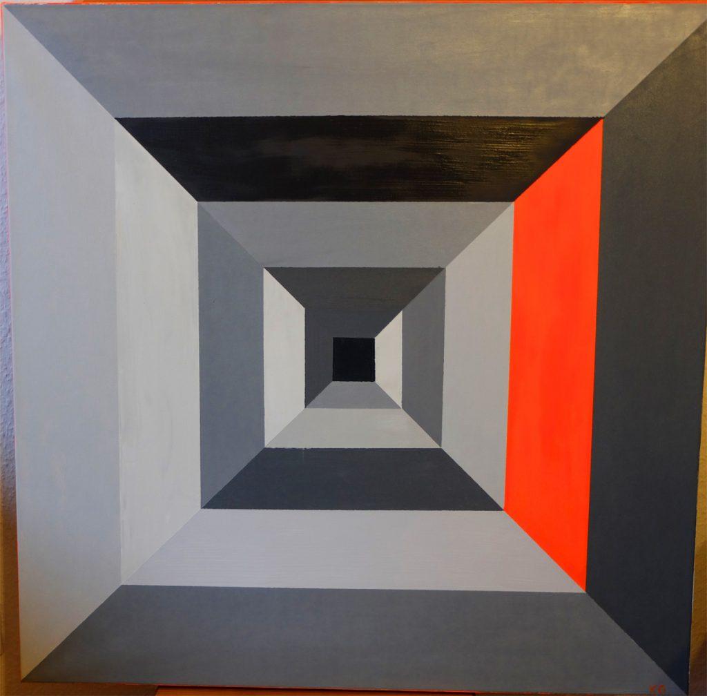 Zeitgenössische Kunst Stuttgart Karlo Grados oil painting Light in grey 0711