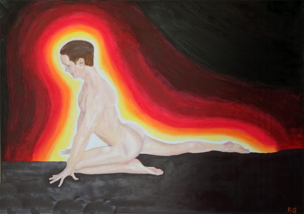 Zeitgenössische Kunst Stuttgart Karlo Grados Galerie Ölmalerei Amor oil painting