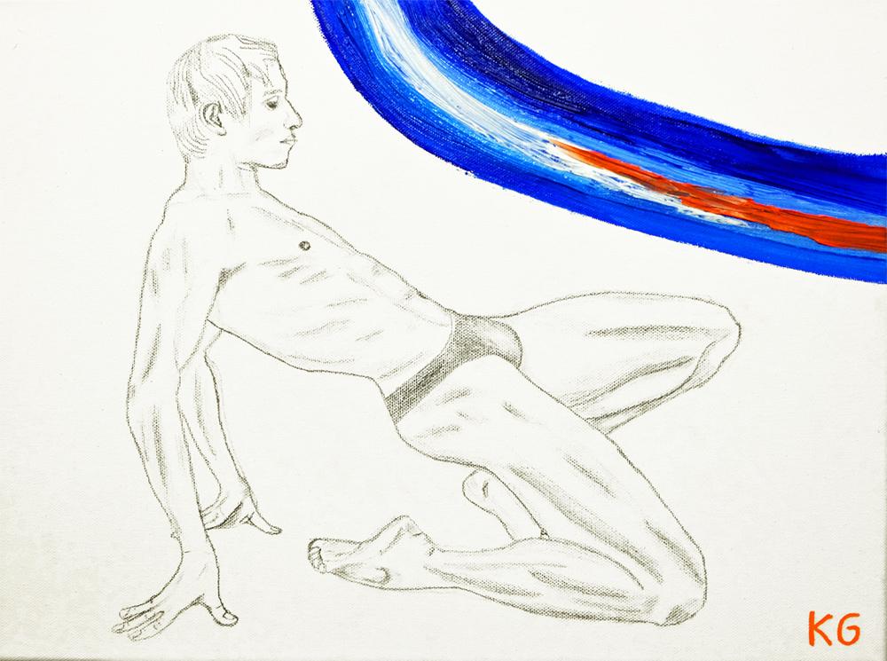 Zeitgenössische Kunst Stuttgart Karlo Grados contemporary art Roman Novitzky Ölmalerei