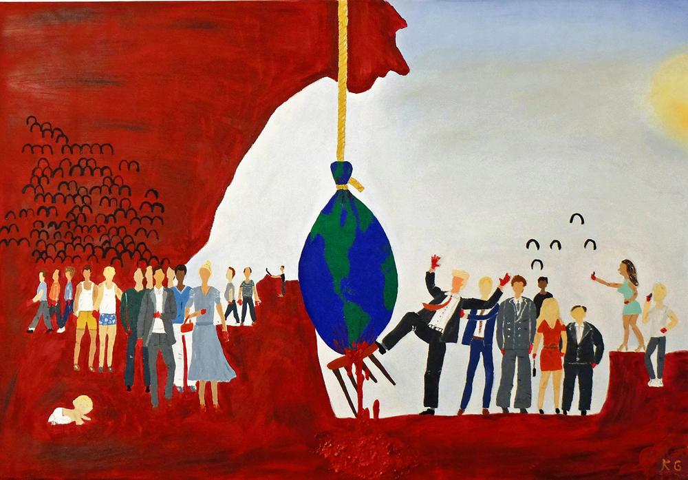 Zeitgenössische Kunst Stuttgart Karlo Grados modern art gesellschaftskritik human rights