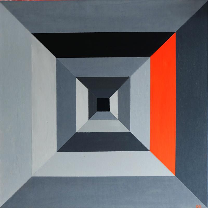 Zeitgenössische Kunst Stuttgart Karlo Grados moderne abstrakte Kunst geometrische Figuren